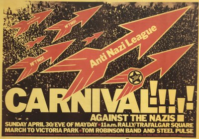 David King's famous 1978 Rock Against Racism Carnival poster