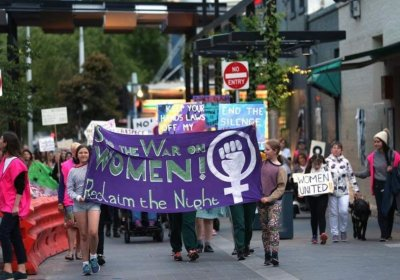 Reclaim the Night in Geelong on October 25. Photo: Sue Bull