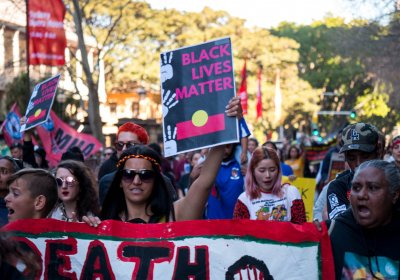State Wide Protest for Black Lives Matter in Sydney.