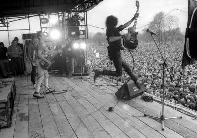 The Clash fans the flames of anti-fascism at the Rock Against Racism carnival in 1978