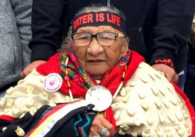 An 86-year old Sioux elder at the Sacred Stone Camp near Cannonball, North Dakota.