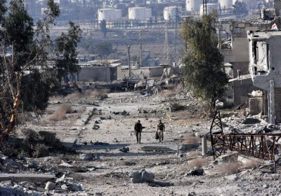 Aleppo, bombed out.