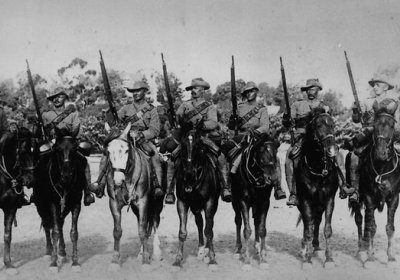 Australian soldiers during the Boer war.