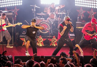 Prophets of Rage at their first live show in Los Angeles in May.