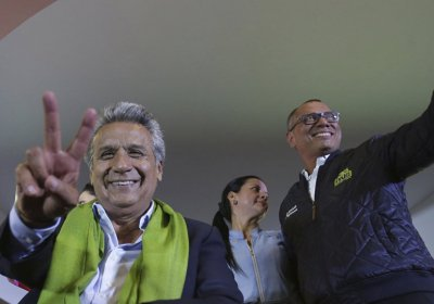Newly elected President Lenin Moreno and his Vice-President Jorge Glass.