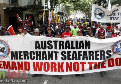 Australian merchant seafarers demand work not dole