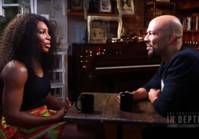 Serena Williams and Common discuss race, gender and sport in an ESPN interview.