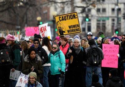 Women's March against Trump in Denver, Colarado on February 21.