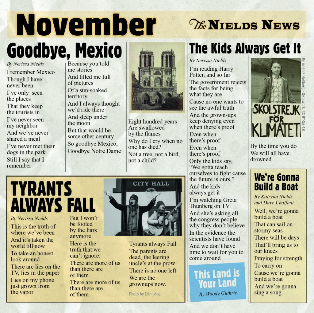 THE NIELDS - NOVEMBER album artwork
