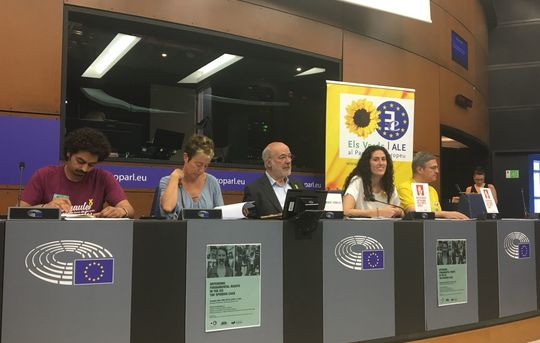 Meeting of family members of jailed and exiled Catalans with MEPs, Strasbourg, May 29