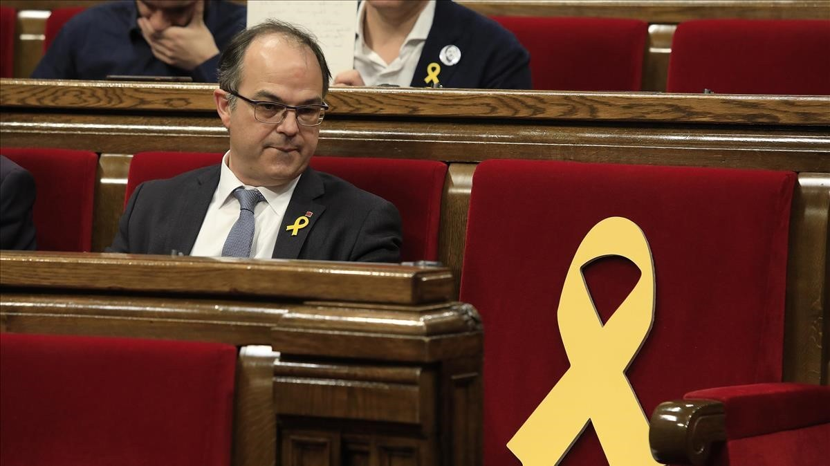 Jordi Turull, after his investiture was rejected by the Catalan parliament with only ERC and JxCat in favour (March 22, 2018). The next day the Supreme Court ordered his preventive detention