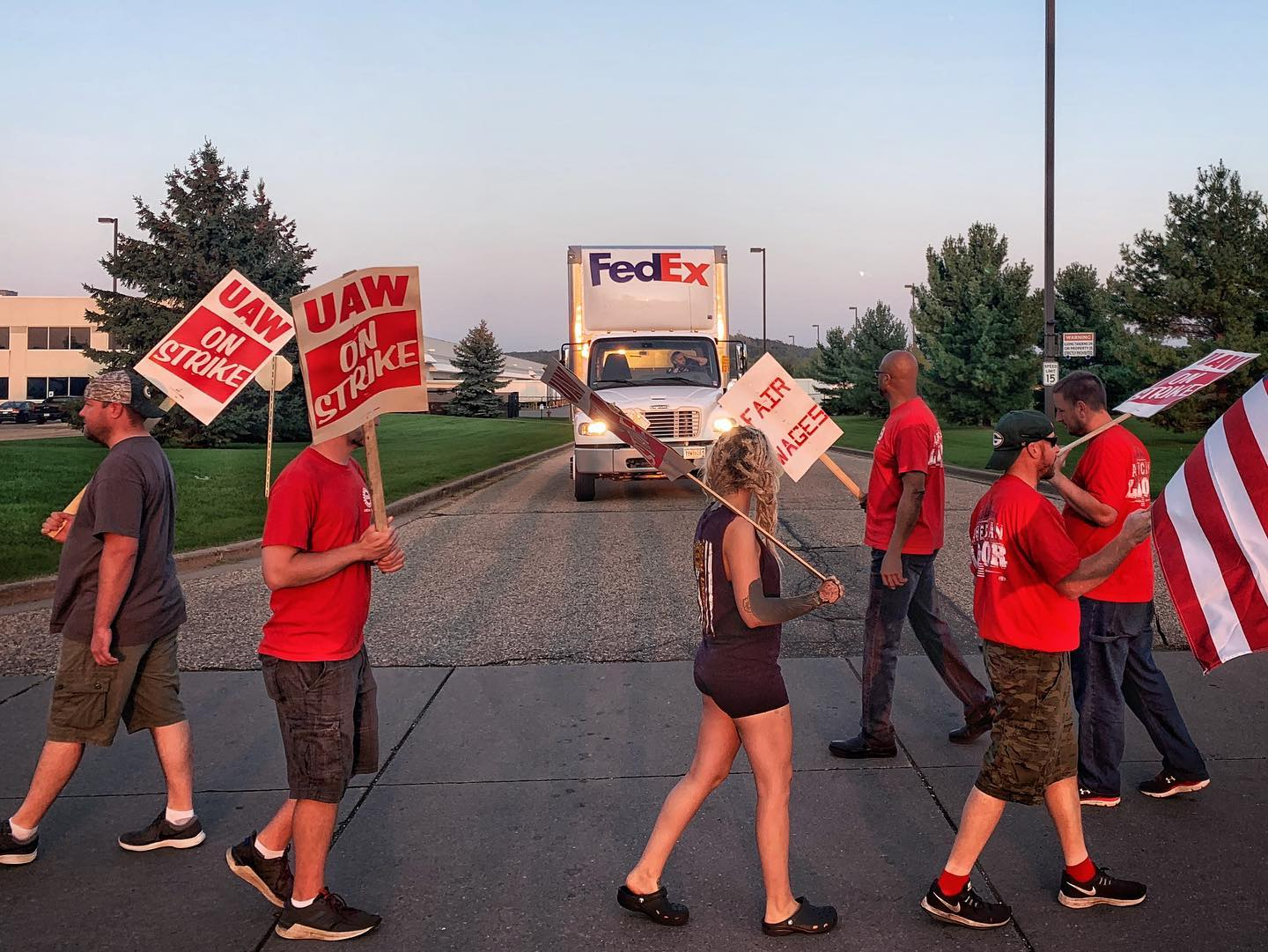 Photos: GM workers take historic strike action