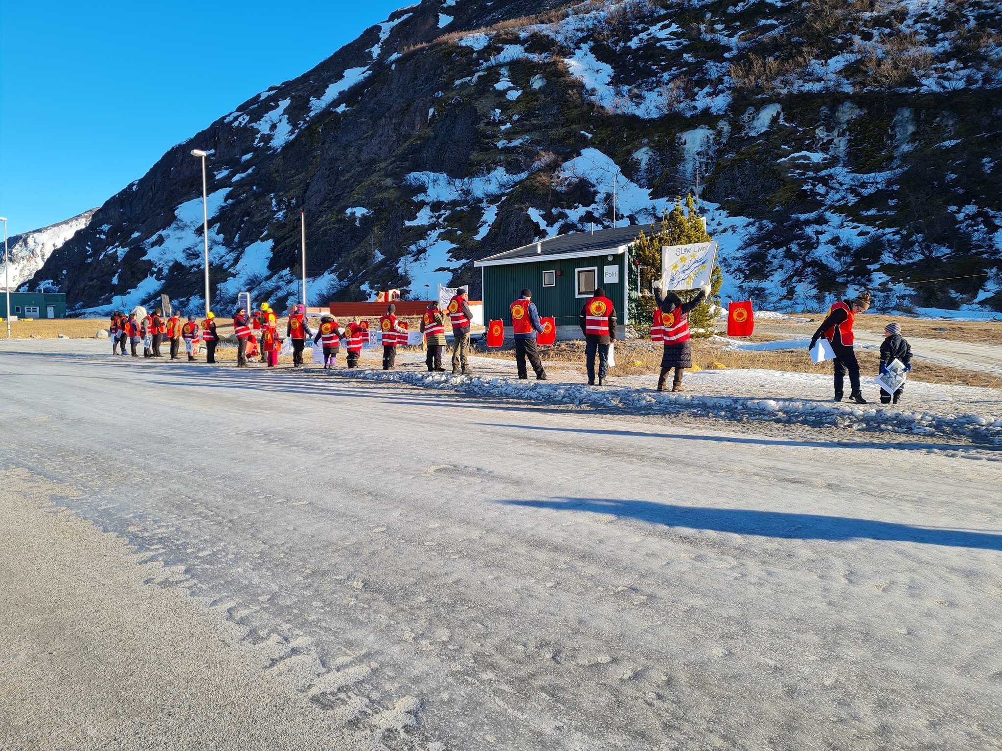 Anti-uranium protest in Greenland