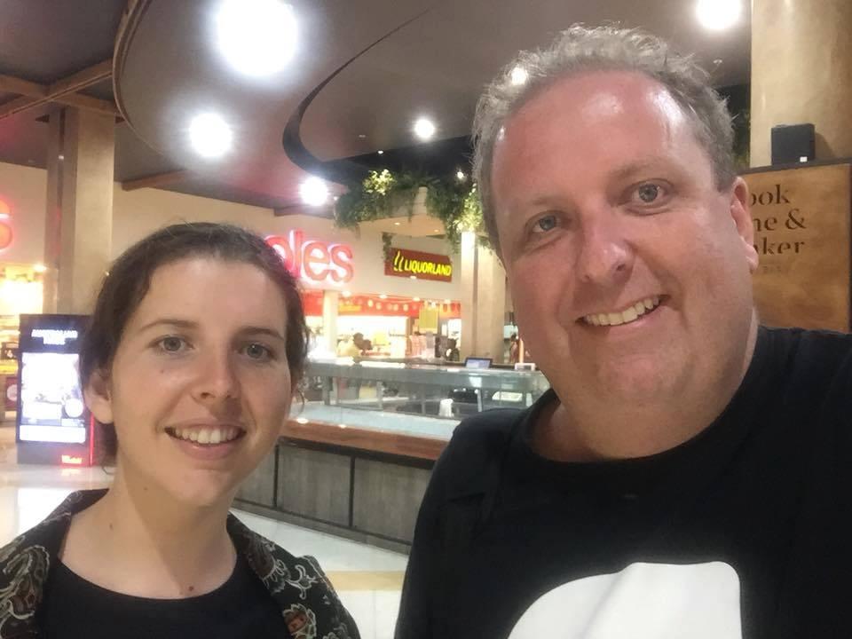 p12 Danielle Hynes and RAFFWU secretary Josh Cullinan.'