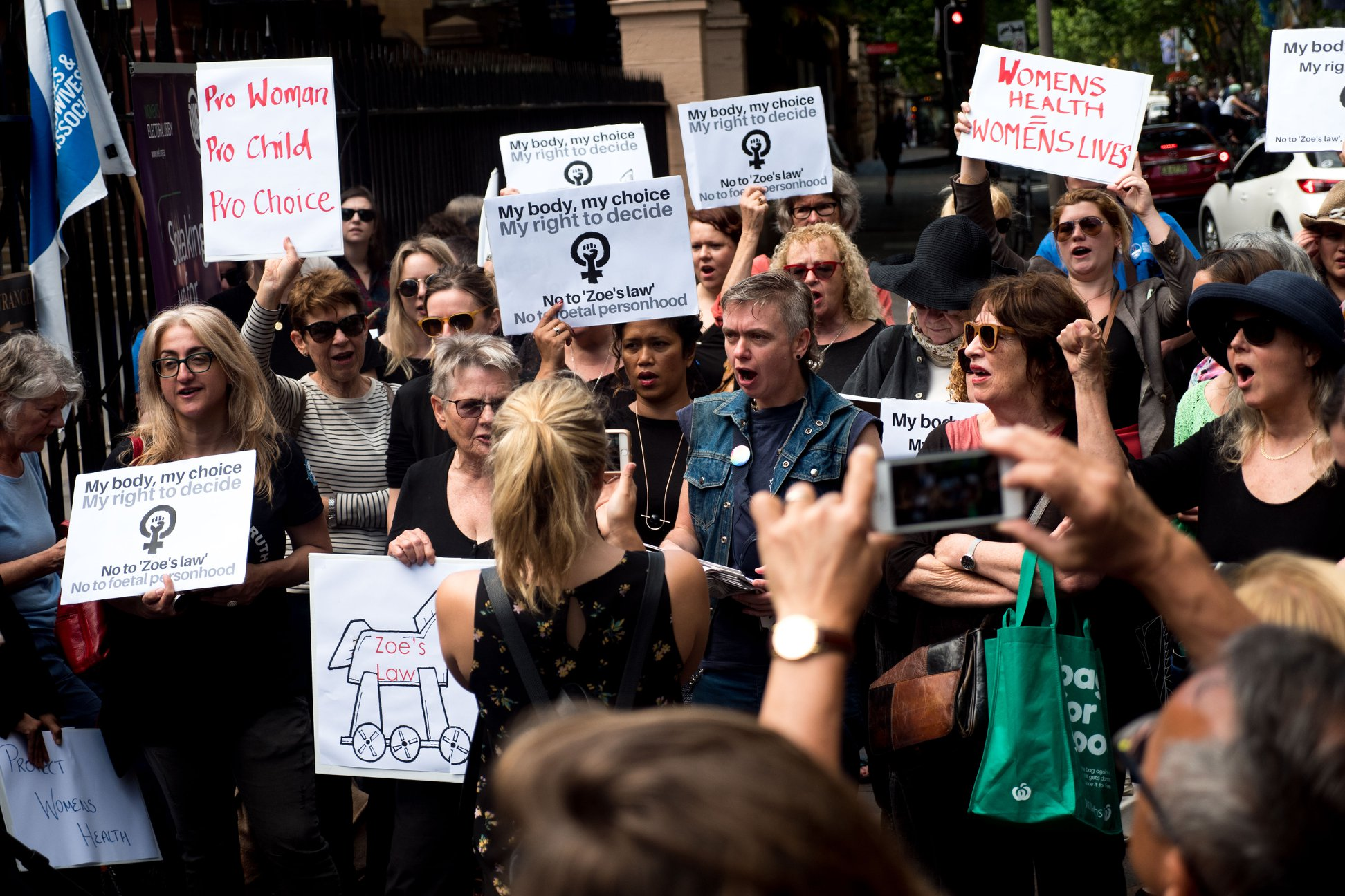 Protesters call for choice, not special laws for foetuses