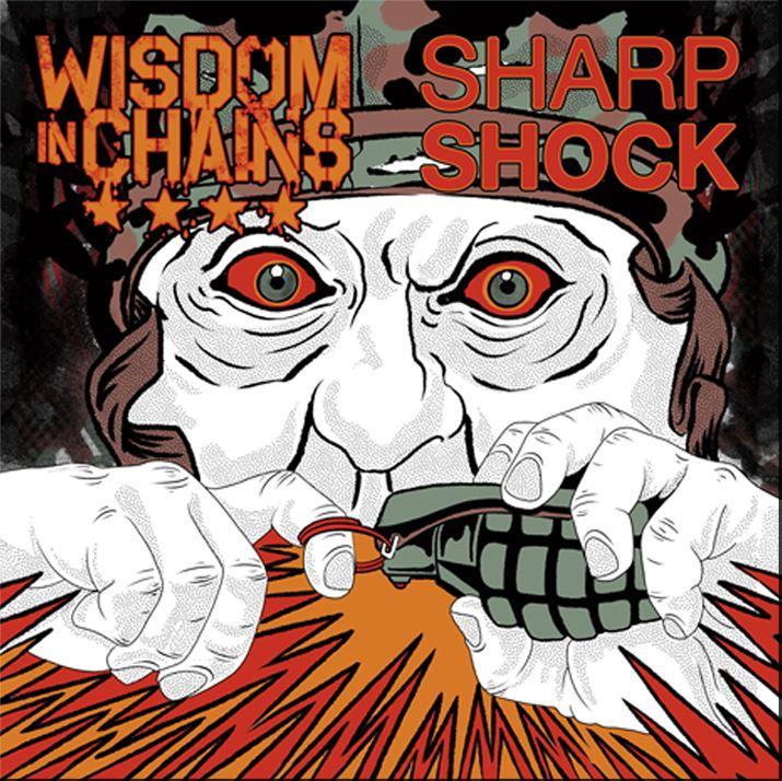 WISDOM IN CHAINS & SHARP/SHOCK - SPLIT album artwork